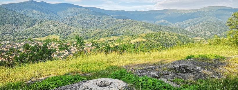 Изглед от върха към град Берковица